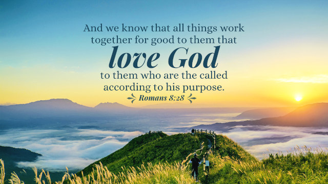 We know that in all things God works for the good of those who love him, who have been called according to his purpose.