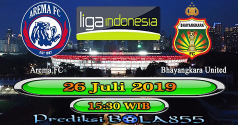 Prediksi Bola855 Arema FC vs Bhayangkara United 26 Juli 2019
