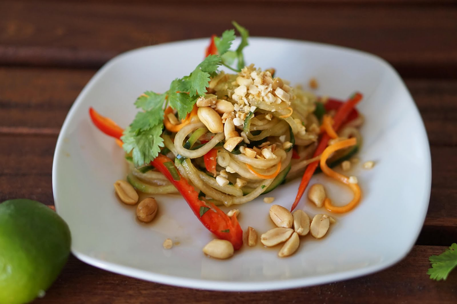 Pad Thai - Salat mit Sticky-Rice-Pops