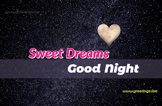Good night sweet dreams love wishes whatsapp status