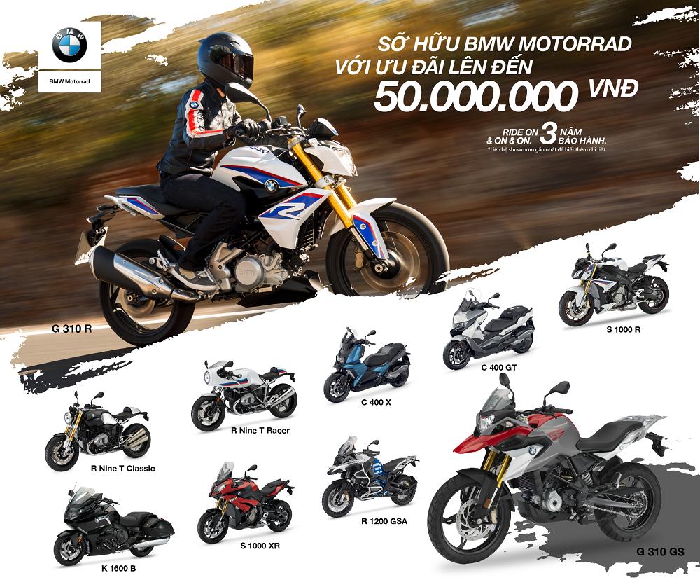 BMW Motorrad ưu đãi giá đến 50 triệu đồng