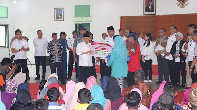 Wapres Ma'ruf Amin Kunjungi Korban Banjir Bandang di Lebak Banten