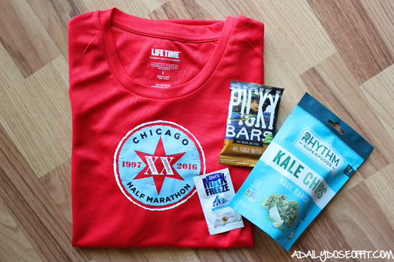 running, Chicago, half marathon, free stuff, picky bars, kale chips
