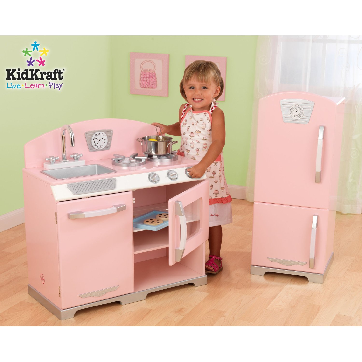 Kidkraft Vintage Kitchen In Blue 53227: The One With The Cupcakes: The One With The Play Kitchens