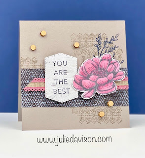Stampin' Up! Tasteful Touches You're the Best Card ~ Catalog CASE ~ 2020-2021 Stampin' Up! Annual Catalog  #stampinup ~ www.juliedavison.com