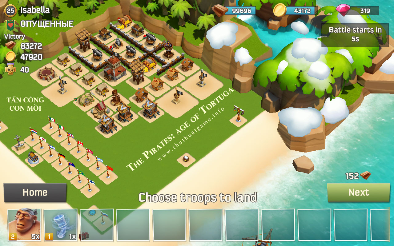 The Pirates -  age of Tortuga - Game chiến thuật - clash of clans - boom beach - thuthuatgame