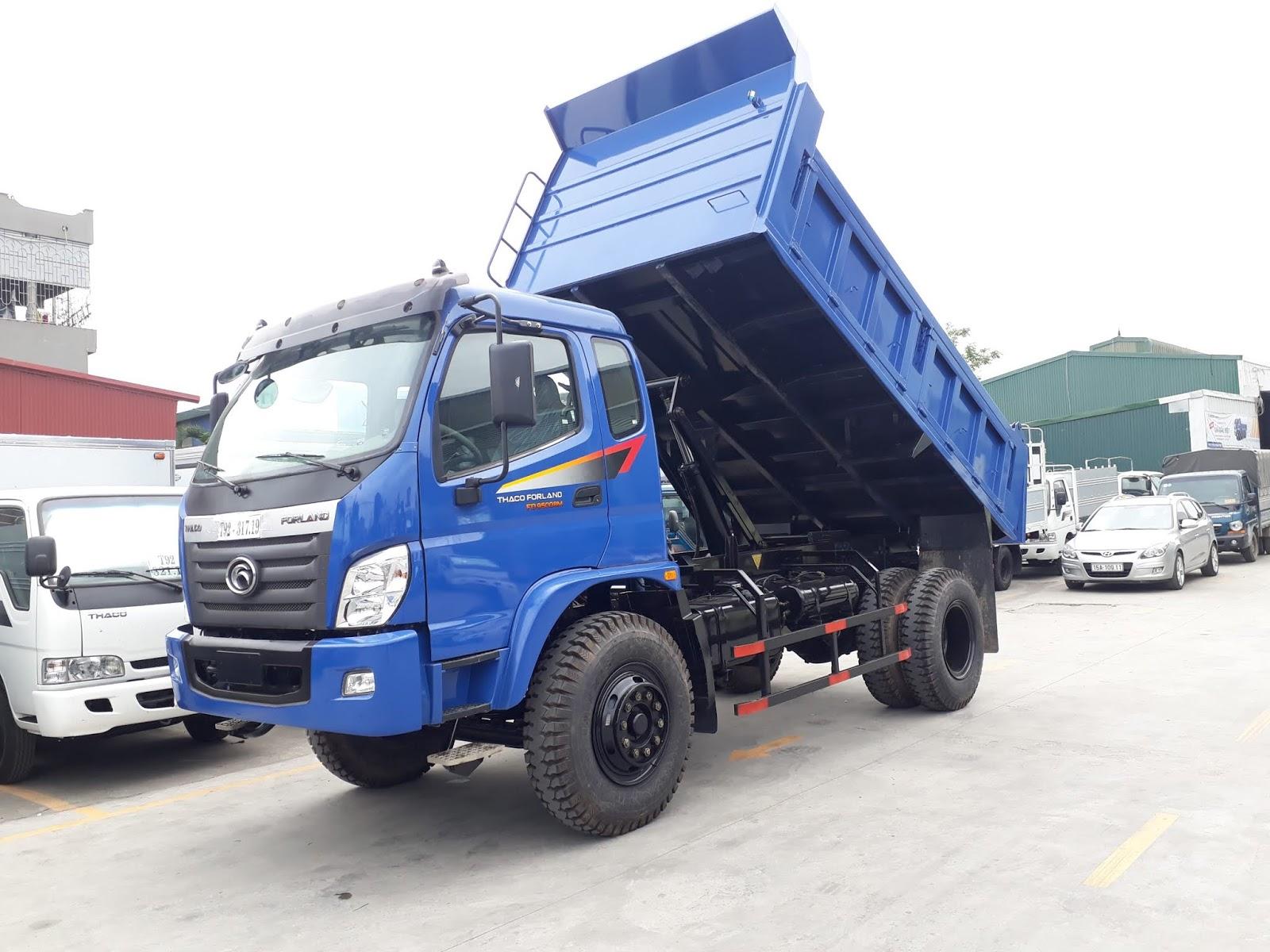 Xe ben Thaco FD9000 tải trọng 8 tấn 7 tại Hải Phòng giá tốt