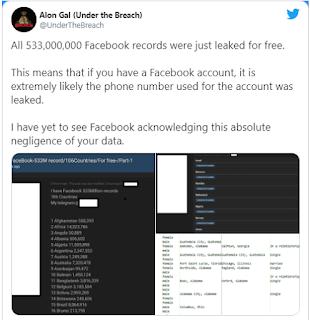 facebook 533 milyon veriyi çaldırdı