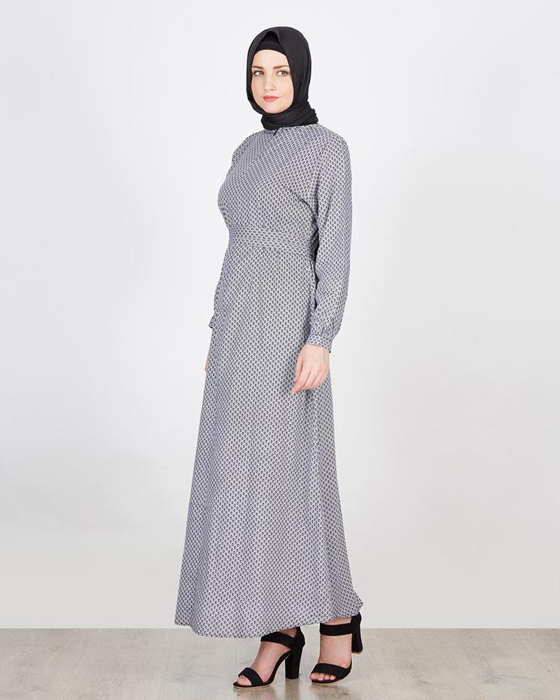 trend model baju lebaran Gamis dengan Ikat atau Belt