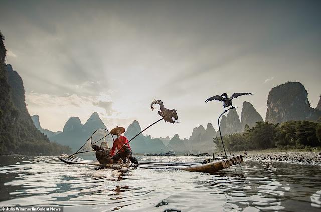 Ảnh đẹp Lão Ngư phủ tại sông Lệ Giang, Trung Quốc 7