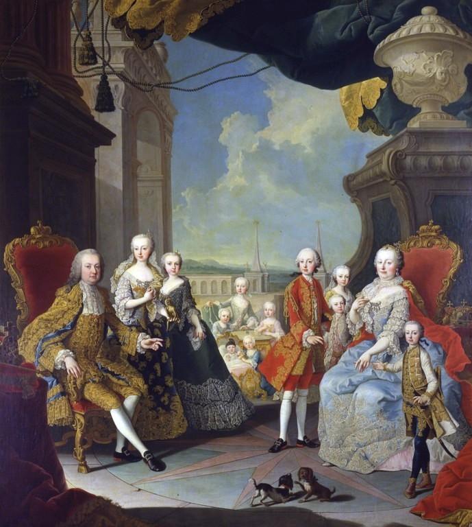 الملك فرانسيس الأول مع زوجته وابنته صور هيتس