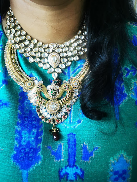 Kundan stone necklace