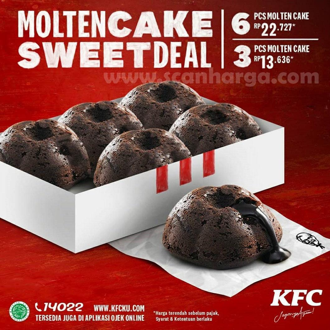 Promo KFC MOULTEN CAKE SWEET DEAL 3 PCS Mulai Rp 13.636