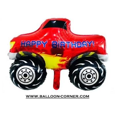 Balon Foil Happy Birthday Mobil / Car