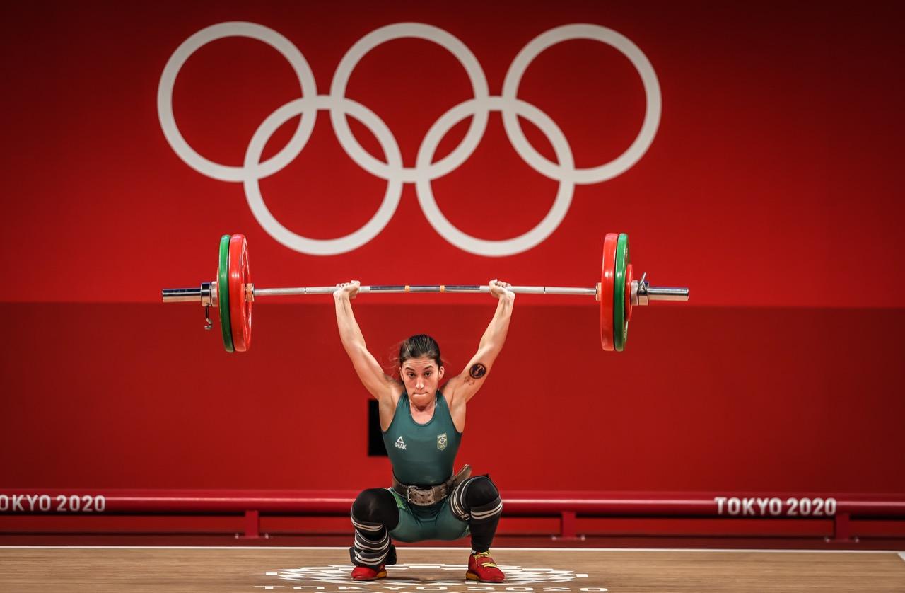 Brasil Olimpíadas levantamento de pesos