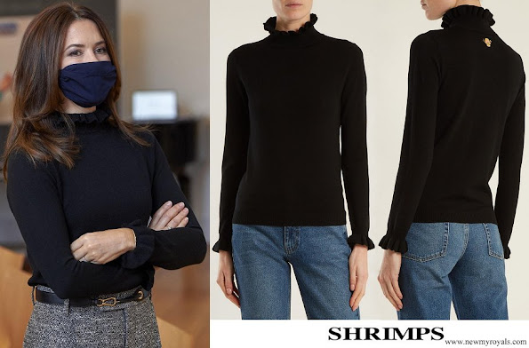 Crown Princess Mary wore SHRIMPS Robin High-neck Wool Sweater