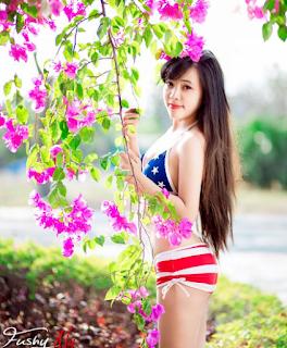 Gái xinh facebook hot girl Hạnh Thỏ
