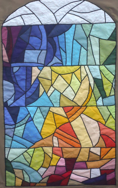 Stained-glass of the Sagrada Familia