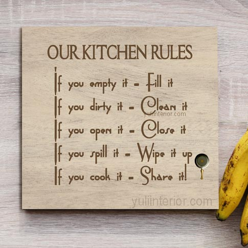 Buy Kitchen Rules Wood Wall Décor in Port Harcourt, Nigeria