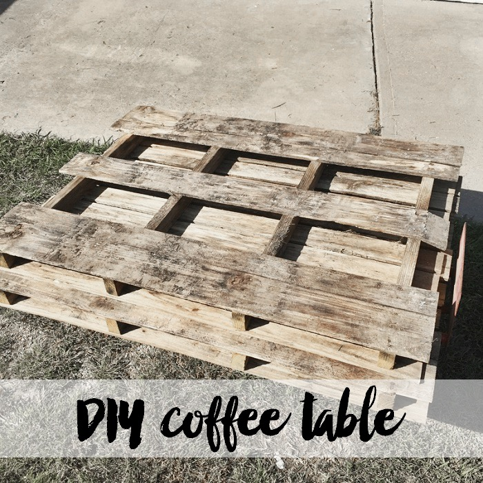 DIY Pallet Table - Hall Around Texas