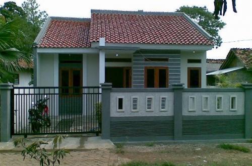 sketsa rumah sederhana di kampung