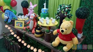 Decoração de festa infantil Ursinho Pooh