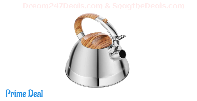 50% off Tea Kettle Stovetop Teapot Stainless Steel Whistling Teakettle with 3L