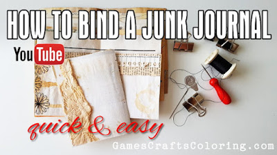 Picture: How to bind a junk journal