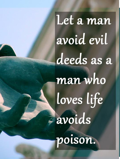Let a man avoid evil deeds Buddha quotes