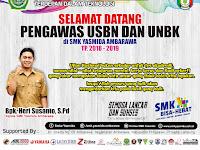 Desain Banner Selamat Datang Pengawas USBN dan UNBK SMK Yasmida Ambarawa