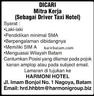 Lowongan Kerja PT. Harmoni Hotel