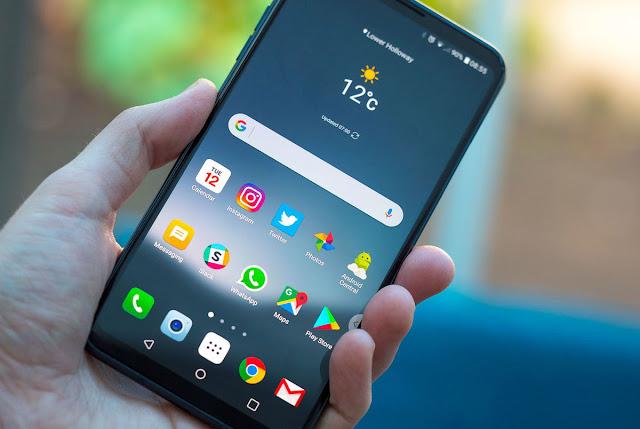 Cara Screenshot di LG V30