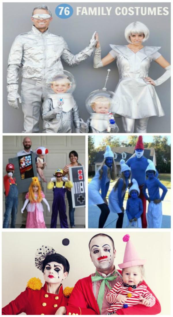 76 FAMILY COSTUME IDEAS FOR HALLOWEEN #familyhalloweencostumes #halloweencostumes #familycostumes #halloween #growingajeweledrose