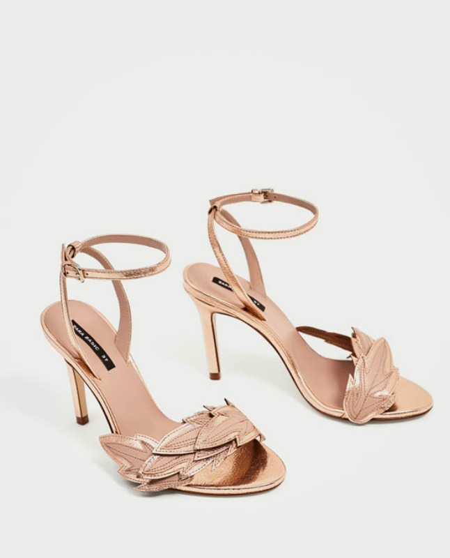 Shopping Find: Zara Rose Gold Sandals
