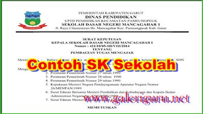 Contoh Format SK Penyusun RKS dan RKAS Terbaru 2019