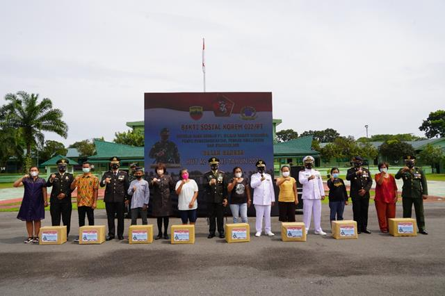 Peringatan HUT Ke-76 TNI Di Makorem Turut Serta Di Ikuti Dandim 0207/Simalungun Di Makorem