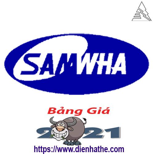 Bảng Giá Thiết Bị Điện Samwha 2021