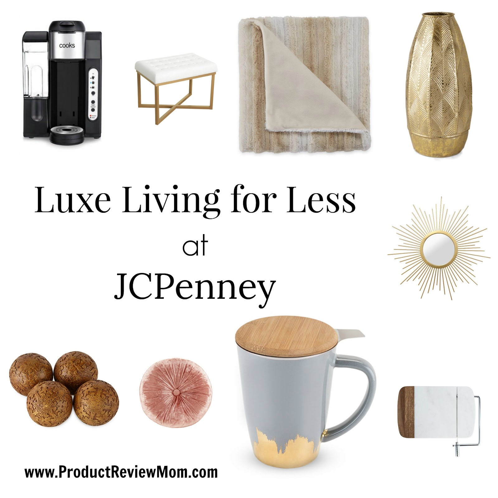 Luxe Living for Less at JCPenney  via  www.productreviewmom.com