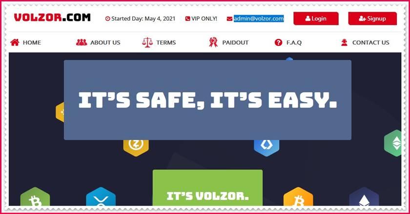 Мошеннический сайт volzor.com – Отзывы, развод, платит или лохотрон? Мошенники