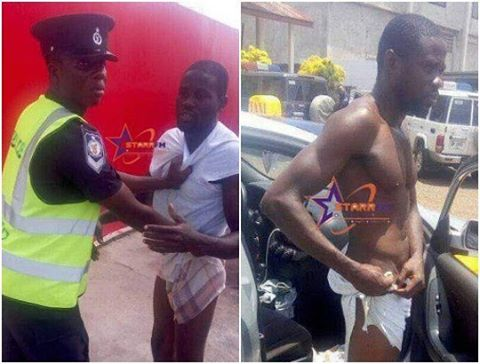 Policeman striped a Taxi driver naked for allegedly violating traffic law