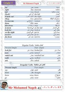 مذكرة يلا نذاكر في منهج تايم فور انجلش للصف الخامس الابتدائي الترم الاول للاستاذ محمد ناجح
