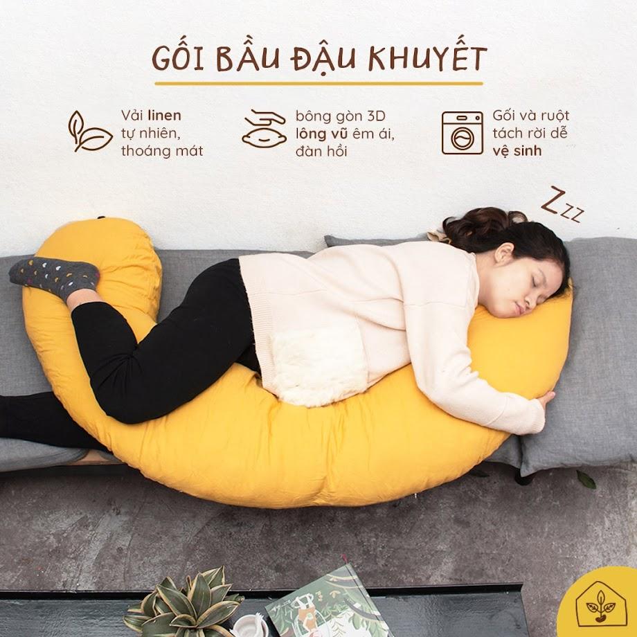[A159] Gối đa năng Bà Bầu: Lựa chọn hoàn hảo cải thiện đau lưng mất ngủ cho Mẹ