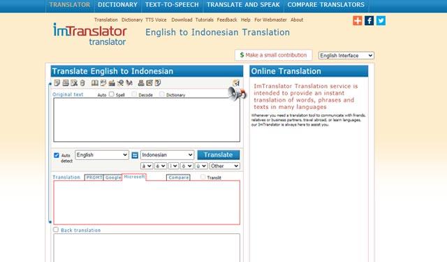 Imtranslator Situs Translate Inggris Indonesia Online