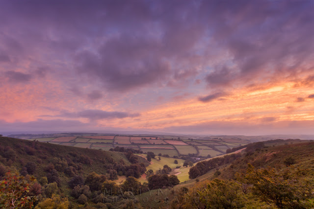 Sunrise over the The Punchbowl from Winsford Hill in Exmoor by Martyn Ferry Photography