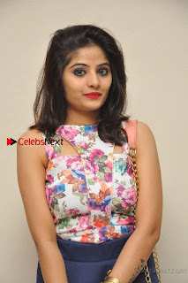 Kannada Actress Mahi Rajput Pos in Floral Printed Blouse at Premam Short Film Preview Press Meet  0005.jpg