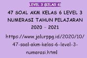 47 Soal AKM Kelas 6 Level 3 Numerasi Tahun Pelajaran 2020 - 2021