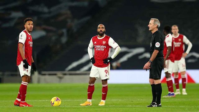 Arsenal players Aubameyang and Lacazette