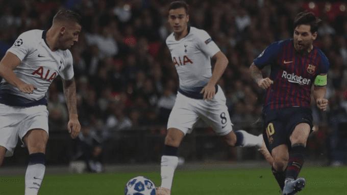 Idnfotbal - Lumbung Goal Messi ke Gawang Tottenham Hotspur