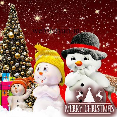 cute merry christmas cartoon