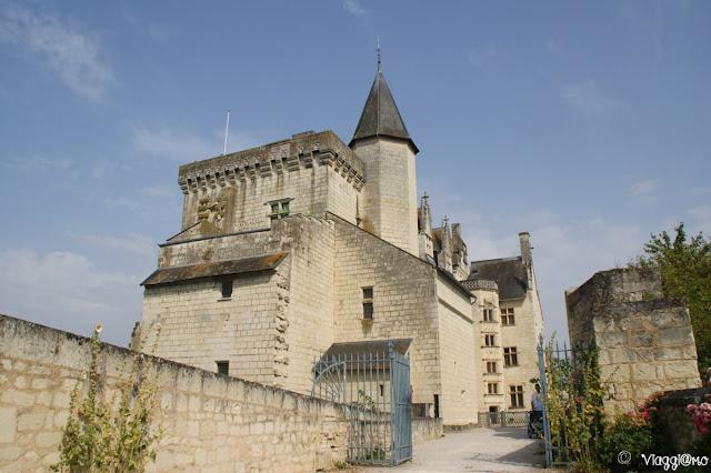 Cortile di accesso al castello di Montsoreau
